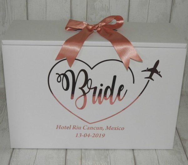 stunning bride travel box