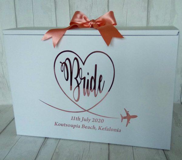 wedding dress box for plane