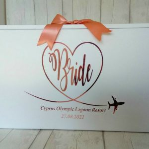stylish bride travel box