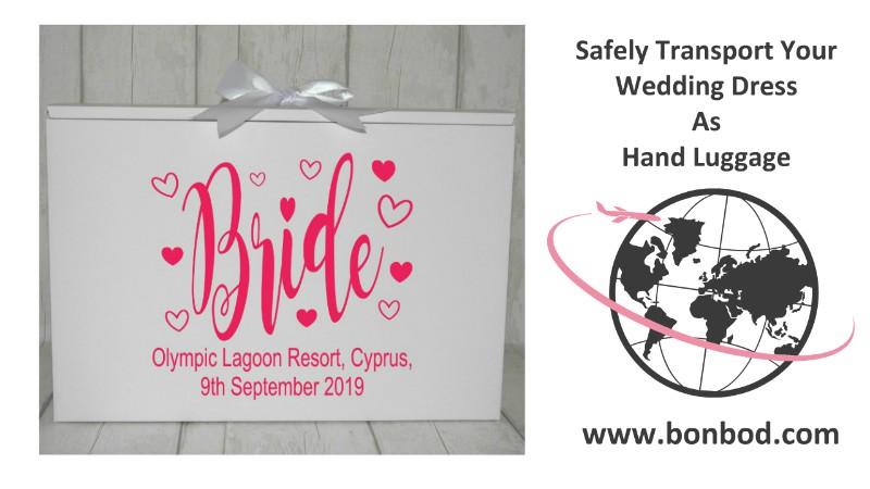 wedding dress travel box for weddings in cyprus