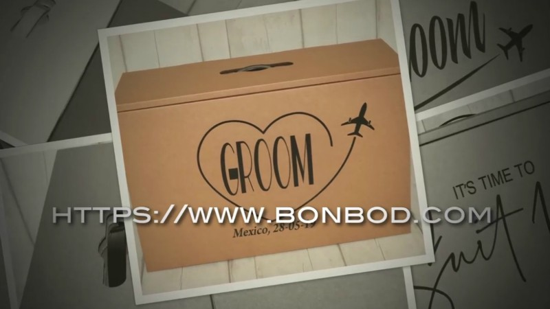A Groom Suit Airline Hand Luggage Carry Box