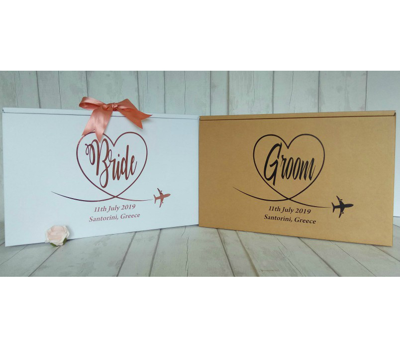 wedding dress boxes for bride and groom