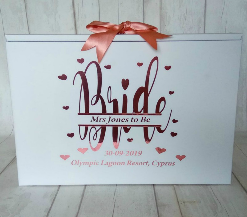 split monogram bride travel box