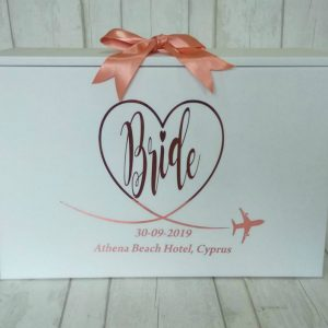 BRIDE TRAVEL BOX ROSE GOLD TEXT