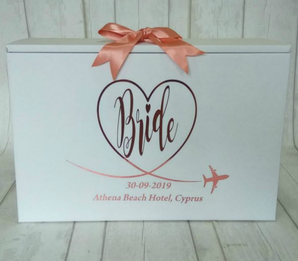 BRIDE TRAVEL BOX ROSE GOLD TEXT