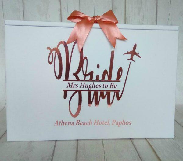bride monogram dress box
