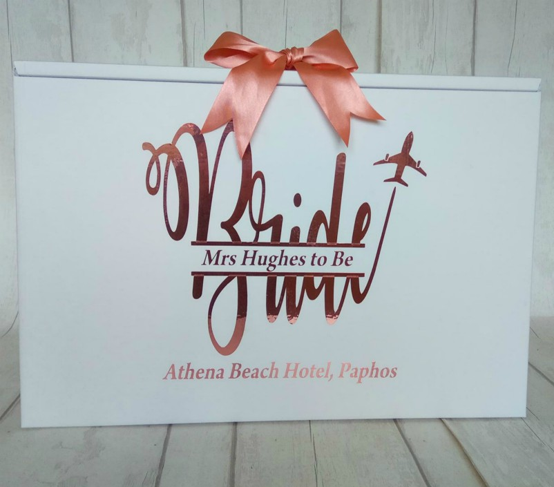 bride monogram dress box
